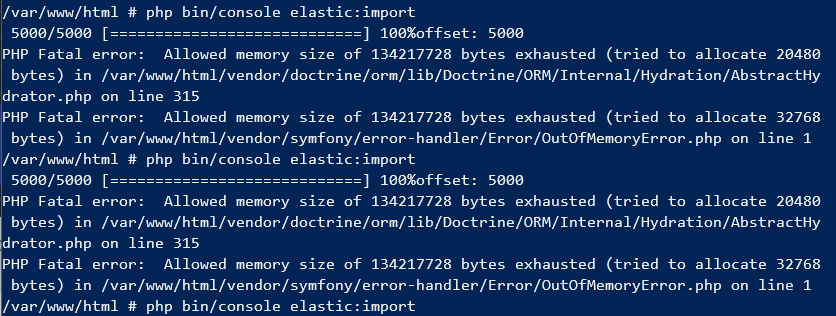 How to deal with large Doctrine datasets - Symfony console command - OutOfMemoryError - PHP Fatal error:  Allowed memory size of * bytes exhausted